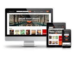 Free Bookstore Website Template Amazon Digital Library Website Template Book Library Joomla
