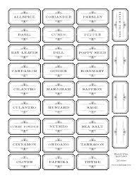 Avery Jar Labels Spice Jar Label Template