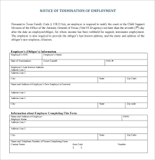 employee termination form template termination form template generic termination letter generic
