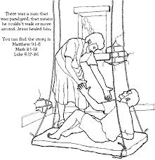 Jesus Heals The Lame Man Coloring Page Lets Be Friends Unit