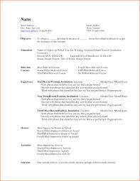 Standard Resume Template Word Sample Resume Template Word Geminifmtk 3