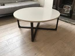 ikea rissna round coffee table in beige in islington london