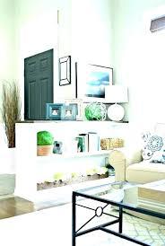 partial walls room dividers half wall ideas living divider for bedroom