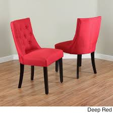 red upholstered dining chairs. Bellcrest Upholstered Espresso Dining Chairs (Set Of 2) - Free Shipping Today Overstock 17767033 Red I