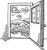 open door drawing. Open Door Drawing · Freedom Concept O