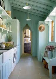 outdoor laundry laundry room mediterranean with blue green mediterranean baskets