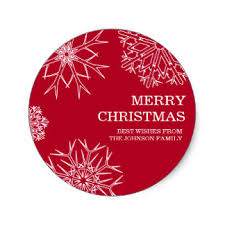Custom Christmas Envelope Seals Stickers | Zazzle.co.uk