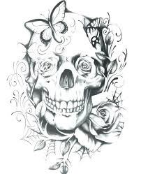 Sugar Skull Printable Coloring Pages Skull Coloring Pages Printable