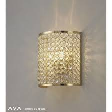 il30759 ava 2 light french gold crystal wall light