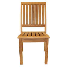sustainable teak stacking dining chair