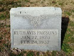 Ruth Avis Parsons (1920-1937) - Find A Grave Memorial