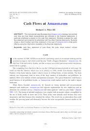 Pdf Cash Flows At Amazon Com