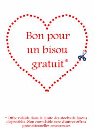 Carte De St Valentin Carte Bon Pour Un Bisou Gratuit