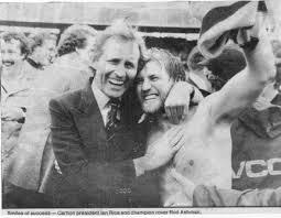 Blueseum - History of the Carlton Football Club | 1981 GF - Ian Rice & Rod  Ashman embrace.
