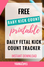 Free Baby Kick Count Tracker Printable Fetal Movement Tracker