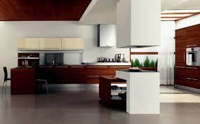 Modern Wood Kitchen Cabinets Kitchen Design Two Level Small Island Square Hood Minimalist
