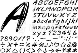 手描き風 英語 アルファベット 文字イラスト No 1269715無料