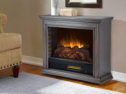 sheridan infrared electric fireplace heater in dark weathered grey glf 5002 205