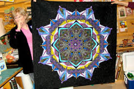 Kaleidoscope Quilt | Quilts and Creativity & Janice Chesnik quilt Adamdwight.com