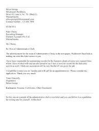 Cover Letter For Admin Clerk Administrative Clerk Cover Letter Templates Resume Examples