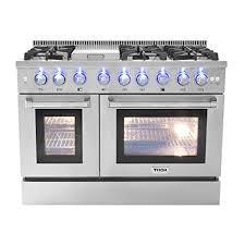 double oven gas range with griddle. Unique Double 48u0026quot 6 Burner Gas Range With Double Oven And Griddle On S