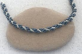 Beaded Necklace Patterns Delectable Easy Spiral Stitch Rope