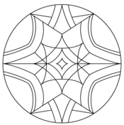 Small Picture Simple Kaleidoscope coloring page Free Printable Coloring Pages