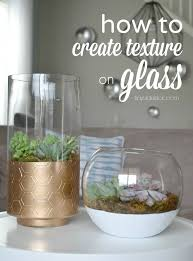 DIY Painted Vases with Texture {West Elm Inspired}