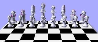 3D Printed Clinton vs Trump Chess Set by Christopher Robison | Pinshape