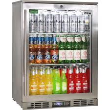rhino quiet 1 door triple glass door bar fridge quiet indoor version