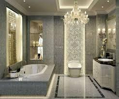 decoration modern luxury. Luxury Grey Granite Wall Charming Chandelier Small Vintage Sconces Black Top Modern White Bathroom Cabinet Natural Decoration