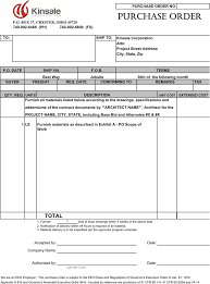Free Purchase Order Template Pdf 52kb 2 Page S