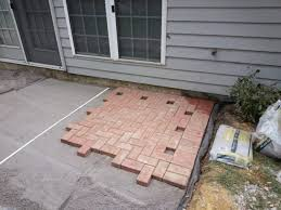 shocking patio design install paver on slope building home how to of with regard to installing