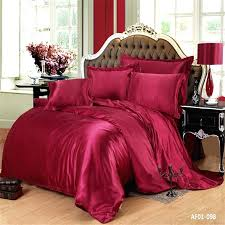 100 pure satin silk bedding set wine red duvet cover queen size bed cover 4pcs bedspread