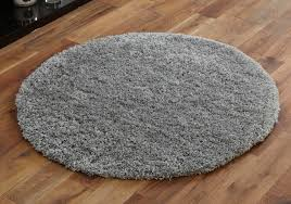 small round rug grey