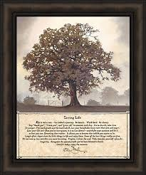 Home Cabin Décor Living Life By Bonnie Mohr 20x24 Life Is A Journey Inspirational Quote Tree Framed Art Print Picture