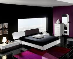 black and white bedroom combination with purple combination and awesome night lamp interior design style ideas awesome design black bedroom ideas decoration