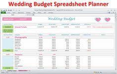 10 Best Wedding Budget Spreadsheet Planner Images Wedding Budget