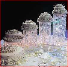 crystal wedding cake stand crystal wedding cake stand 23034 12 tall eloquent crystal pendants metal
