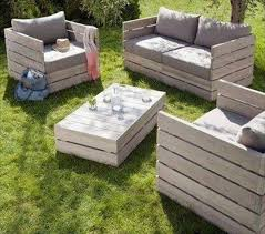 Outdoor Pallet Deck Furniture Pallet Sofa And Chairs Outdoor Deck