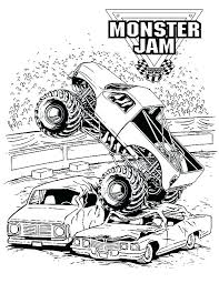 Monster Truck Coloring Pages Monster Jam Coloring Pages Free Monster