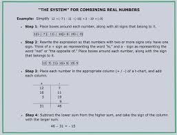 Integers Examples Combining Integers Instead Of Adding And Subtracting Them Math