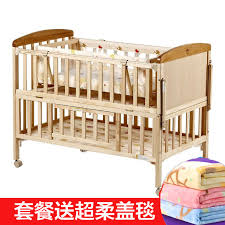 baby boy crib bed wood without paint crib imported pine mc283 multifunction cradle baby bed bb
