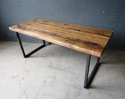 reclaimed industrial chic  seater solid wood and metal