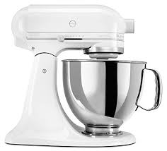 6 Qt Stainless Bowl  Kitchenaid Ksm150psww Artisan Series 5 Stand Mixer With Pouring Shield White On