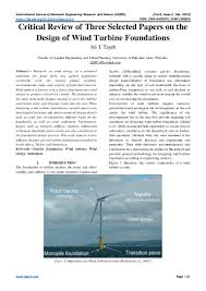 Wind Turbine System Design Critical Review Of Three Selected Papers On The Design Of