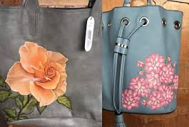 painting on a canvas or paper is common to our ears but have you heard that it is also possible to paint on faux leather bags yep you heard it right