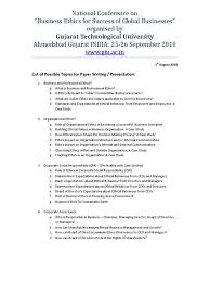 list of topics for paper presentation for national conference on list of topics for paper presentation for national conference on business ethics corporate social responsibility business ethics