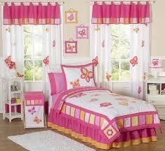 jojo pink orange flower erfly garden kid full queen sized girl bedding set