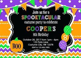 Free Halloween Birthday Invitation Templates Halloween Costume Party Invites Guluca